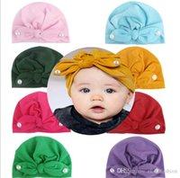 fotos de meninas de estilo venda por atacado-Childrens 2019 Pérola coelho consideravelmente Ear Knitting Hat Melhor Venda americanos estilo renascido adereços foto meninas de Natal macio Princesa Chapéu