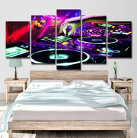 Wholesale carnival painting resale online - HD Printed Pieces Canvas Art Painting Bar DJ Poster Wall Carnival Night Pictures for Living Room Decor