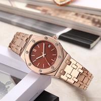 relógio de quartzo boutique venda por atacado-Relógio das mulheres da moda high-end boutique cinto de aço relógio de quartzo de negócios de ouro ocasional das mulheres relógio de acessórios de vestuário