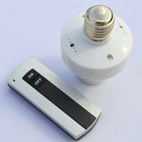 iluminação parafuso velas venda por atacado-E27 220V Parafuso Controle Remoto Sem Fio Lâmpada Luz Titular Interruptor de Soquete da Tampa Da Lâmpada