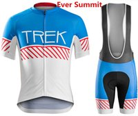 Wholesale padded cycling shorts online - 2019 Pro Summer TREK Cycling Jersey Team Short Sleeve Ropa Ciclismo Maillot Quick Dry Bycicle Clothing D Gel Pad Racing Suit