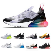 ingrosso aria 45-2019 nike air max 270 airmax 270 Cuscino Sneakers Sport Designer Scarpe Casual Trainer Off Road Star Scarpe da ginnastica Running React Sneakers Scarpe sportive Taglia 36-45