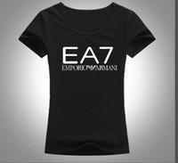 ingrosso camicie di cotone in puro cotone-La maglietta del cotone delle donne di estate 2019s-xl recentemente ha lanciato la stampa normale del monogramma della maglietta del cotone della maglietta del bicchierino-manicotto delle donne trasporto libero