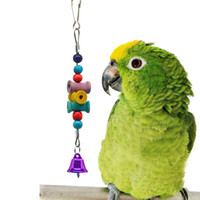 Wholesale shaft toy resale online - Parrot Toys Bird Toys Wooden Shaft Gnawing A Molar Tooth String Cage Parts Amazon Wish Cross Border g