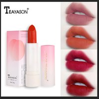 Wholesale peach lipstick makeup for sale - Group buy Lipstick Bean Paste Matte Velvet Vintage Red Peach Lip Stick Waterproof Long Lasting Silk Texture Lip Makeup Tools