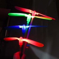 Wholesale fairy flies toy for sale - Group buy Glowing bamboo dragonfly flying fairy toys stall selling glow flash toys