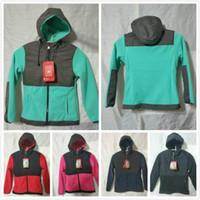2019 new kids designer winter ski down coats girls windproof softshell fleece hoodies jackets outdoor boys coat kids ski face coats 2-11year