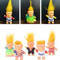 ingrosso nuovi modelli vestono i capretti-2020 Donald Trump Doll Vinile Donald John Trump Figure 17 Colori Dressed Trump Model Dolls Bambini Bambini Mano Gioca Giocattoli divertenti Natale Nuovo