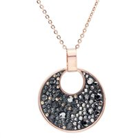 Wholesale stainless nickel for sale - Group buy Rose Gold Color Stainless steel Brand Austria Crystal Pendants Nickel Free Fashion Necklace Jewelry For Women