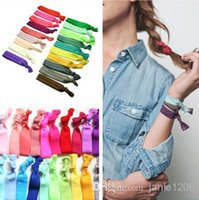 Wholesale enamel hair resale online - 20 Colors New Knotted Ribbon Hair Tie Ponytail Holders Stretchy Elastic Headbands Kids Women Hair Accessory