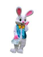 bonecas extravagantes venda por atacado-Coelho da páscoa Traje Da Mascote Dos Desenhos Animados Boneca Traje de Desempenho Traje de Coelho Lebre Adulto Fancy Dress Terno Dos Desenhos Animados Frete Grátis