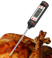 Wholesale indoor bbq for sale - Group buy Kitchen Digital BBQ Food Thermometer Instant Read Digital Electronic Household Cooking Barbecue Grill Food Meat Thermometers