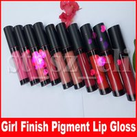Wholesale liquid lip pigments for sale - Group buy LA Lip Makeup Flat Matte Pigment Liquid Lipstick Natural Long Lasting Waterproof Lip Gloss Lipgloss Colors