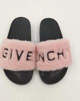 Wholesale furry heels for sale - Group buy 2019 Real Fox Fur Slippers Slides Shoes Furry Fuffly Slipper Flip Flops Sandals Sliders Drag Sandal Summer Shoes Women