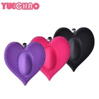Wholesale lick pussy product resale online - YUECHAO Clitoris Vibrators Heart shaped Licking Sex for Women Clit Pussy Pump Silicone G spot Vibrator Oral Sex Products
