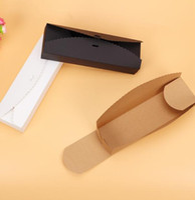 ingrosso confezioni regalo di caramelle imballaggio-30pcs / lot 23 * 7 * 4cm scatola di carta lunga carta kraft Macaron Packaging Box Candy Gift Party Dessert Cookie Cupcake pacchetto