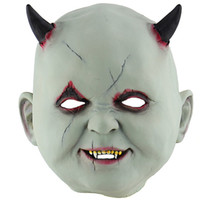 Wholesale devil face for halloween resale online - Little Devil Vampire Halloween Mask Personality Terror Festival Party Men Masks High Quality Full Face Mask