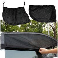 visor lateral de la ventana del coche al por mayor-Car Auto Window Side Parasol Protección UV Car Cover Visor Protector Malla Car Styling 2 unids / lote