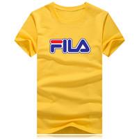 spor tişörtleri yaka toptan satış-Spor marka T Shirt erkek kadın 9 renk artı boyutu Rahat T Shrits Kısa kollu yuvarlak yaka poloshirt Sokak çalışan giysi