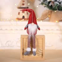 Wholesale use candles resale online - Santa Claus Christmas Pendant Doll Ornament Door Gift Tree Decoration Toys Use