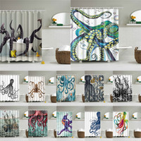Wholesale sea print fabric for sale - Group buy Sea Octopus Shower Curtains Fabric Waterproof Polyester Printing Shower Curtains Color Available Bathroom