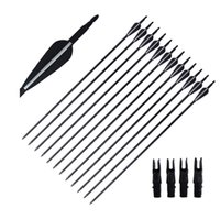 Wholesale arrows for recurve bow for sale - Group buy 31 Carbon Arrows Fiber for Recurve Compound Bow with Replaceable Point Tips Archery Outdoor Hunting Shooting Outdoor Sports Adults