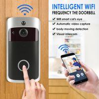 Wholesale home alarm camera door online - WiFi Smart Wireless Security alarm Door Bell HD Visual Intercom Recording Video Door Phone Remote Home Monitoring Night Vision