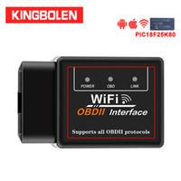 chave carro chevrolet em branco venda por atacado-ELM327 V1.5 WiFi PIC18F25K80 Chip OBDII ferramenta de diagnóstico do iPhone / Android / PC ELM 327 ATPPS ICAR2 OBD2 Auto Scanner Leitor de Código