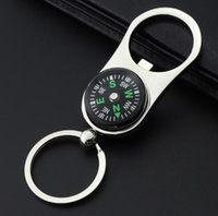 Wholesale compass keyring keychain for sale - Group buy Outdoor Compass Bottle Opener with Metal Key Ring Chain Keyring Keychain Metal Wine Beer Bottle Openers Bar Tool as Gifts
