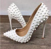 meistverkaufte high heels großhandel-Beste Verkauf 2019 Frauen Pumps Stiletto High Heels Party Schuhe Frau Sexy Spitz Zapatos Mujer Nieten Design Dame Hochzeit Schuhe