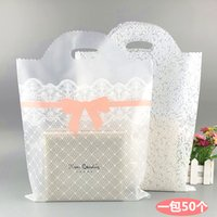 100 Plastic Shopping//Gift Bags Lot 20 25cm Green Hearts