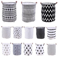 Wholesale folding storage barrel resale online - Home Folding Laundry Basket Cartoon Storage Barrel Standing Toys Clothing Storage Bucket Laundry Organizer Holder Pouch TTA782