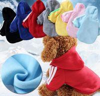 ropa de cachorro xs al por mayor-Invierno Cálido Ropa para Perros Mascotas Con dos piernas Sudadera con Capucha Perros Pequeños Suéteres para cachorros Ropa para mascotas Ropa para perros XS-XXL dc390