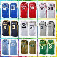 ingrosso ricamo pallacanestro jersey curry-mens 30 Stephen Curry ricamo Davidson Wildcats Basketball Maglia 3 Dwyane Wade 10 Dennis Rodman 25 RICHARDS Marquette Golden Eagles
