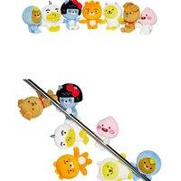 jay spielzeug großhandel-Kuscheltiere Spielzeug Ryan Anhänger Furz Pfirsich Puppe Magnet APEACH FRODO Jay G Muzi Neo Soft 12 8zy F1
