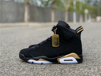 Wholesale basketball shoes dmp for sale - Group buy Top Quality Men With Original Box S Basketball Shoes DMP Black Gold High Sports Luxury Designer Trainer Sneakers Athletic Shoes