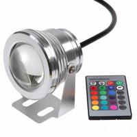 havuz çeşmesi toptan satış-10 W 12 V RGB Sualtı Led Işık Işıklandırmalı CE / RoHS IP68 950lm Çeşme Havuzu için Uzaktan ile 16 Renk Değiştirme dekorasyon