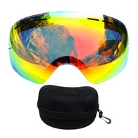 Wholesale mask box resale online - Benice brand ski lenses add case double layers UV400 anti fog big ski mask skiing men women snow snowboard glasses Box