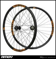 Wholesale 29er wheel set resale online - Hot style er carbon fiber mountain bicycle wheels er MTB wheels with Novatec disc hub D771SB D772SB hub