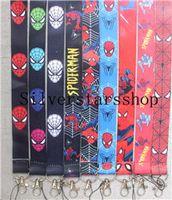 Wholesale fashion cartoon images resale online - New fashion mobile phone lanyard key chain Cartoon character image key rope neck rope hanging neck rope
