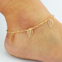 ayakkabı zincirleri toptan satış-Düğün Ayakkabı Için ucuz Yalınayak Sandalet Sandel Halhal Zincir Son Çıkan Streç Altın Toe Ring Boncuk Düğün Gelin Gelinlik Takı Ayak