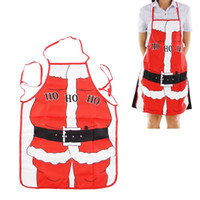 Wholesale aprons for women for sale - Group buy 47x68cm Christmas Kitchen Aprons for Woman Xmas Decoration Santa Claus Aprons Dinner Party Cooking Apron Baking Accessories