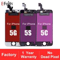 iphone 5c lcd parçaları toptan satış-Tianma Cam Üst Sınıf LCD Ekran Dokunmatik Ekran Digitizer Tam Meclisi iphone 5G / 5 S / 5C / SE Yedek Onarım Parçaları Ücretsiz Nakliye