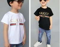 ingrosso ragazzi 11 anni-Summer designer new brand 1-9 anni baby boy girl T-shirt estate shirt per bambini T-shirt abbigliamento per bambini