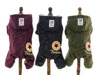 Wholesale dog hat large resale online - Pet Winter New Korean Four legged Cotton Clothes Teddy Pet Dog Clothes Casual Hat and Warm Clothes