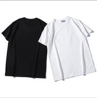 camiseta floral de los hombres al por mayor-2019DI.OR 100% algodón letra impresa hombres camiseta transpirable casual hombres camiseta o-cuello mujeres tops camisetas