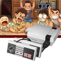 видеоигры для телевидения оптовых-Мини ТВ Игровая приставка Видео Ручной для 620 NES Игровые приставки с розничными коробками Горячие продажи 2018-2019 с двумя контроллерами