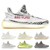Wholesale soccer shoes red online - Butter Sply V2 Beluga Frozen Yellow Blue Tint V2 Zebra Cp9652 Bred Men Running Shoes Sport Sneaker With Box