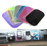Wholesale magic gel pad phone holder resale online - Silicone Car Phone Anti Slip Mat cm Car Dashboard Sticky Pad Antiskid Holder Adsorbability Silica Gel Magic Car Sticky OOA6260