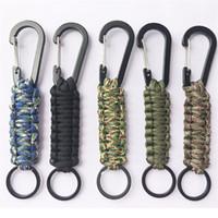 keychain überlebensgang großhandel-Lanyard Keychain Outdoor Survival Gear Fallschirmschnur Taktische Militär Multi Color Kit Klettern Bardian Verschleißfeste 2 6khf1